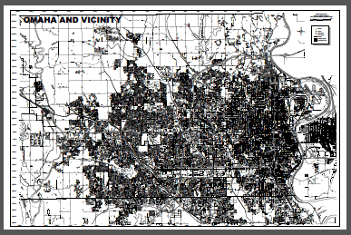 Omaha and Vicinity - Black and White